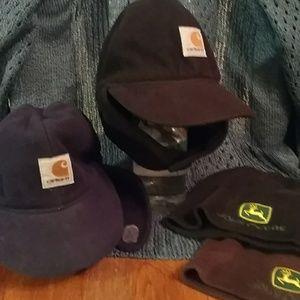 Toddler Boys Carhartt flap winter hats JD beanies